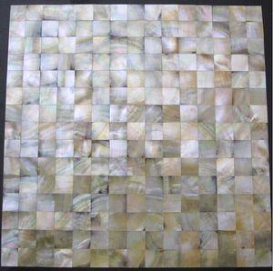 Ouro amarelo Madrepérola mosaico backsplash telha da cozinha MOP096 8mm pérola shell mosaico banheiro parede mãe de azulejos pérola