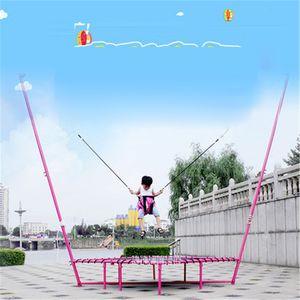 Venda por atacado - Trampolins Dobrável cilindro da cintura primavera bounce cama bungee jumping home para adultos dentro de casa crianças perda de peso fitness Carga 250 kg