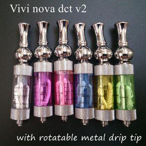 1 pz Viva nova dct v2.0 clearomizer con punta girevole in metallo girevole vivinova rebuildablbe atomizzatore 2ml doppio serbatoio serbatoio vaporizzatore PK iclear 30