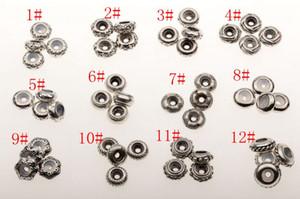Heiß ! 48Pcs alten Splitter Bulk Shiny Stopper Gummi Perlen passen Charms Armband 12 Stil