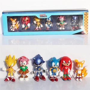 Sonic الرقم اللعب سونيك القنفذ pvc أرقام لعبة الكرتون أنيمي الشكل الهدايا