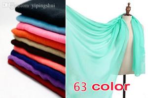 All'ingrosso-Nuovo colore delle donne printe pianura scialli lunghi viscosa di colore solido hijab avvolgere la testa sciarpe musulmane / sciarpa 10pcs / lot
