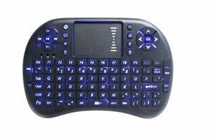 لوحة المفاتيح المصغرة المحمولة Rii Mini i8 لوحة مفاتيح Bluetooth اللاسلكية لعبة Fly Air Mouse الوسائط المتعددة التحكم عن بعد Touchpad Handheld Android PC