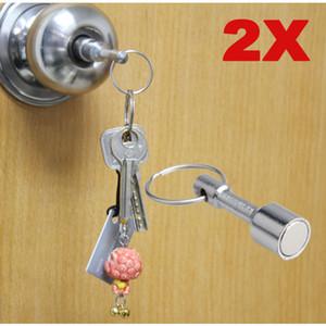 2 шт Супер-сильная брелок Neodymium Magnet Pocket Chain с ключом для ключей с ключом для ключей с раздельным кольцом Бесплатная доставка