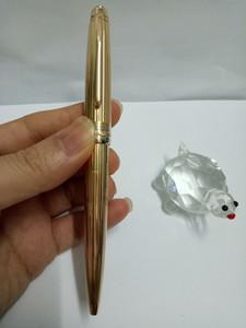 مواد ذات جودة عالية معدن الذهب 163 هيئة سلك الرأسي قلم حبر جاف لأفضل هدية