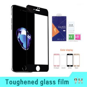 Für google pixel 2 xl für google pixel 2 3d schutz gehärtetes glas mit lila kleinverpackung a