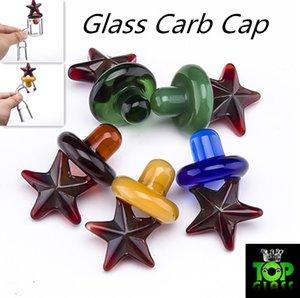 Verre de couleur Carb Cap Style étoilé UFO Cap Dôme pour 4MM Quartz Banger thermique Bangers tuyaux en verre dab plates-formes pétrolières