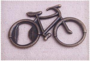 Gros lots 20 pcs Creative classique forme de bicyclette Bronze ouvre-bouteille en acier inoxydable + cadeau boîte mariage faveur cadeau de mariage