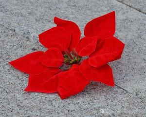 """Rot 100p Dia.20cm / 7.87 """"künstliche Simulation Seide Poinsettia Weihnachten Blume dekorative Blumen"""