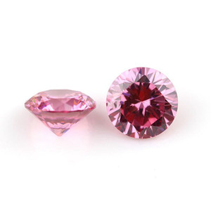 Buona qualità 3A rotonda europea taglio macchina 2.4-3.75mm colore rosa sintetico sciolto zirconia pietra preziosa per monili che fanno 1000 pz / lotto