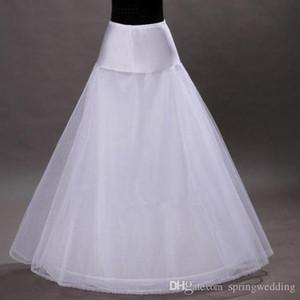 Stokta ücretsiz Nakliye 1-hoop 2-layer Tül Aline Petticoat Gelin Düğün için Petticoat Jüpon Crinolines Elbise