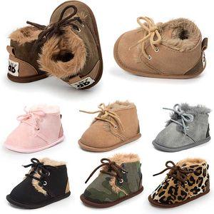 Winter Newborn Baby Boy / Girl Boot Calzado Warm First Walker Infants Kids Antislip Boots Zapatos para niños