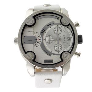 Модный Бренд 7265 мужская Большой Случай Mutiple Циферблаты Дата Календарь Дисплей Кожаный Ремешок Кварцевые мужские Наручные Часы
