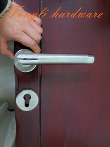 New promotion for stainless steel 304 L shape lever room door handle, direct selling, 0.4 kg, free shipping