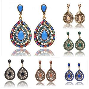 Boemia Orecchini Estate Style Fashion 2015 Fine Bead Orecchini per le donne Gioielli di cristallo di moda a buon mercato