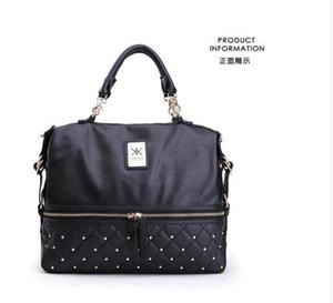 Venta al por mayor-CALIENTE de Gran capacidad bolsos de cuero de la Pu famosa marca kardashian kollection kk bolso de hombro de las mujeres bags10PCS / LOT