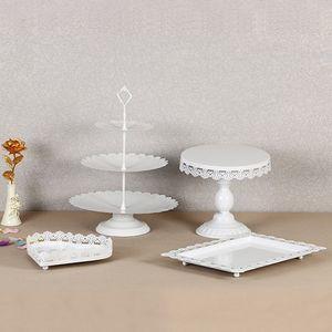 Металлический Железный кекс дисплей стойки Resuable без Кристалл десерт Торт стенд для свадьбы День Рождения украшения держатель мода 95ds BB