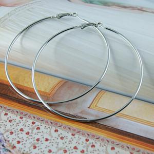 45-mm große Hoop Loop Ohrringe Erkenntnisse Schmuck machen großen Kreis glatte Runde Haken Hip Hop Haken Clip einfach Tropfen Punk Dangle Charm Craft