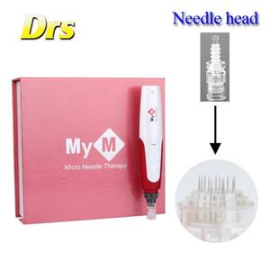 전동 MYM Derma Pen 자동 전기 Derma 펜 우표 피부 Theraphy Roller Microneedle 5 단계 속도