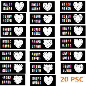 Новая Мода Набор Аэрографа Трафареты для ногтей 261-280 Инструменты Diy Аэрография 20 х Шаблон листа для Аэрографа Kit Nail Art Paint