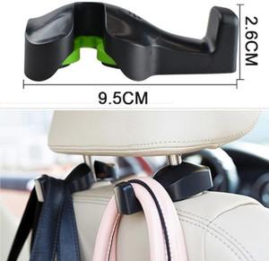2PCS Car FastenerClip Accesorios interiores Bolsas Auto Portátil Gancho de asiento Percha Monedero Bolso Bolsa Organizador Soporte Car Styling