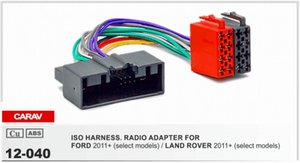 CARAV 12-040 ISO Radio Adapter for FORD Focus 2011+؛ Fiesta، C-Max 2010 + Wiring Harness Connector Lead Loom Cable Plug