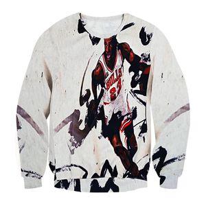 Raisevern 2015 새로운 하라주쿠 3D 후드 티 스웨터 프린트 황소 23 개의 후드 풀오버 스포츠 슈트 스웨트 셔츠 탑 의류