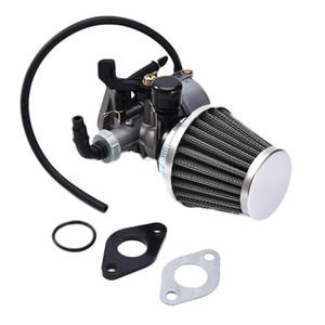 19mm PZ19 손으로 질식하는 기화기 탄수화물 섭취 파이프 공기 필터 연료 필터 50cc 70cc 90cc 110cc 125cc Taotao Sunl Quad ATV