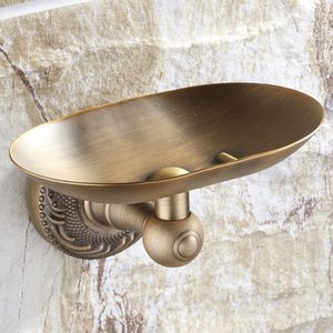 새로운 디자인 및 소매 골동품 황동 자료 욕실 비누 홀더 벽 마운트 비누 접시 선반 우리에게 무료 배송