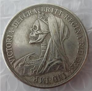 Hobo Creative 1893 Grande-Bretagne couronne d'argent Reine Victoria tête en forme de tête voilée
