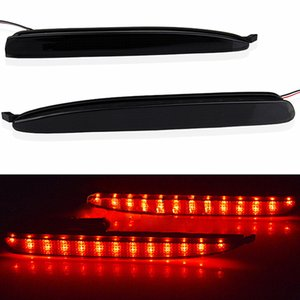 2 X 검은 색 훈제 렌즈 LED 범퍼 반사판 꼬리 브레이크 중지 빛 03-08 마즈다 6 라이트 자동차 Led 무료 배송