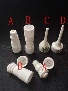 Nuevo Diseño de uñas de Cerámica 14mm18mm masculinos o femeninos Domeless Ceramic Nails Cerámica Carb Cap vs GR2 Titanium Nail Quartz nail