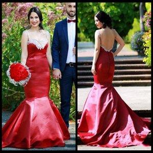 robes de fiesta grande taille robes de bal robes Longos De Festa Noite élégante Bourgogne satin sirène robes de fête