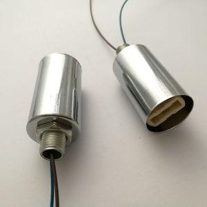 G9 Socket Ceramic Base Halogen LED Lamp Bulb Light Holder chrome Case