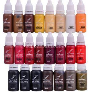 6 Pz / lotto Inghilterra KIAY Sopracciglio Eyeliner Lip Permanent Makeup Tattoo inchiostro Micro pigmento Colori cosmetici