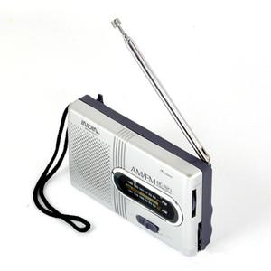 BC-R21 Mini Radio Portátil AM FM Antena Telescópica Radio Mundo Receptor Altavoz DC 3V Buena calidad
