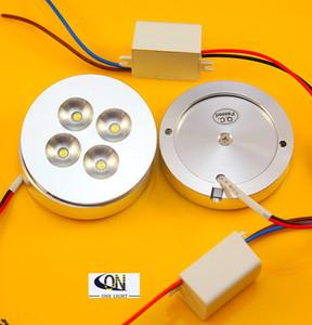 10pcs 12V DC 4X3W 12W Dimmable LED Под свет шкафа Puck свет теплый белый, натуральный белый, холодный белый для освещения кухни