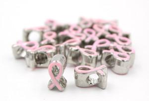 Date DIY Bijoux Résultats Perles Métaux Grand Trou Perles Européen Perles Cancer Du Sein Perles De Sensibilisation Cancer Du Sein Rose Ruban Perles