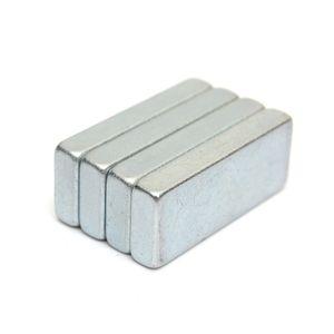 Vendita calda 4 pz Molto forte magneti al neodimio Block N52 grado Craft Square NdFeB 25X10x4mm Magnete ordine $ 18no track