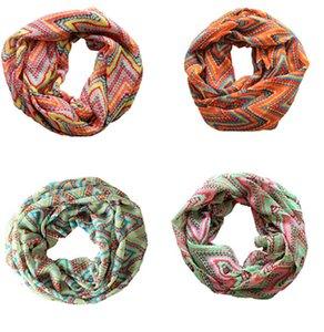 Schöne Chevron Welle Printed Chiffon Schal Damen Damen Kreis Loop Infinity Streifen Ring Schals 2016 Europa Trendy Gute Qualität K1061