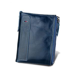 RFID BLOCCANTE Portafogli e borsellini da donna in vera pelle Borsa bifold da uomo in pelle e borsellino con protezione RFID