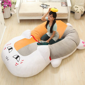 Dorimytrader 210 cm X 150 cm Japonya Anime Peluş Yumuşak Komik Nyanko-sensei Kedi Yatak Tatami Kanepe Halı Yatak Güzel Hediye Ücretsiz Kargo DY60369