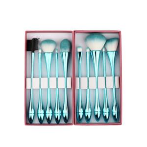 Princesse Rose Professionnel 10 pcs Maquillage Pinceaux Ensemble Gouttelettes D'eau Petite Taille Maquillage Pinceau Kit Brosses Cosmétiques Outils