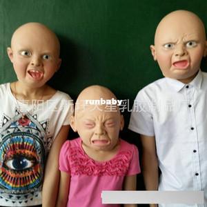 Neue ankunft 10 STÜCKE latex vollgesichts halloween party baby grimasse weinen glücklich angely emoji masken kostenloser versand