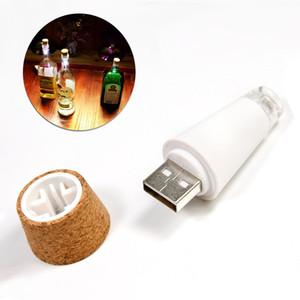 Wholesale-Cork Shaped Bottle Light Wiederaufladbare Usb Led Nachtlicht Leere Weinflasche Lampe Atmosphäre Beleuchtung Weiß RGB