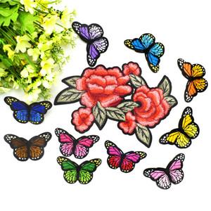 11 Unids / set Gran Mariposa Parches Bordados para Ropa Hierro en Applique Parche de Transferencia para Bolsas de Ropa DIY Coser en Insignia Bordado