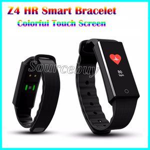 Z4 Bluetooth Smart Band Bracelet Femmes Dynamique De Fréquence Cardiaque Couleur Écran OLED Écran Tactile Touche Podomètre Fitness Tracker Bracelets pour Smartphone
