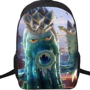 Eiskaktus-Kanonenrucksack Pflanzen vs Zombies-Daypack Cooler PVZ-Schultasche Spielrucksack Sportschultasche Outdoor-Tagesrucksack.