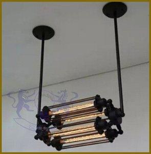 Luzes Pingente do vintage Loft Lustres de Ferro Forjado sala de Jantar Flauta Retro Lâmpada Pendurada Luminária Europeia 110 V-240 V Frete grátis