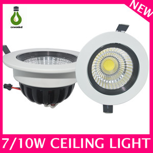 Professional COB led downlight led ceiling lights manufacturer ip44 850lm aluminum round 7w led cob downlight
